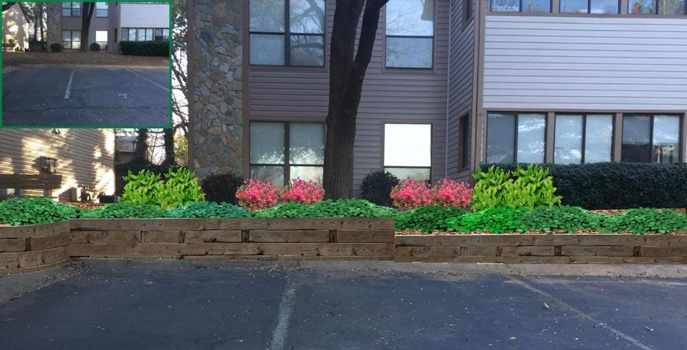landscape plant wall